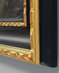 Carved frame corner detail